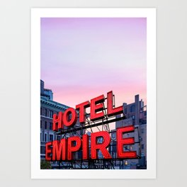 Hotel Empire Art Print