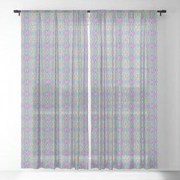 Woodcut Boho Pattern Sheer Curtain