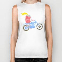 I love moto and beer Biker Tank
