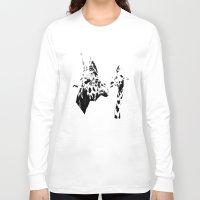 giraffes Long Sleeve T-shirts featuring Giraffes  by Digital-Art