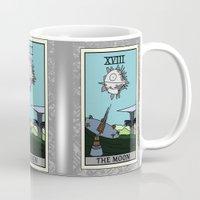 tarot Mugs featuring The Moon - Tarot Card by kamonkey