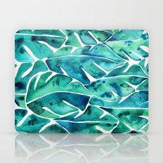 Split Leaf Philodendron – Teal Laptop & iPad Skin