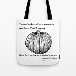 Thoreau's Pumpkin Tote Bag