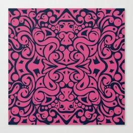 Kaleidoscope Pink&Blue Canvas Print