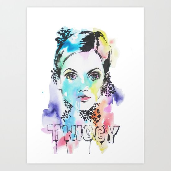 I heart Twiggy Art Print