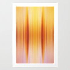 Golden Pillars Art Print