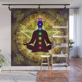 In Meditation With Chakras - Spiritual I Wall Mural