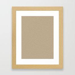 Khaki Brown Pixel Dust Framed Art Print