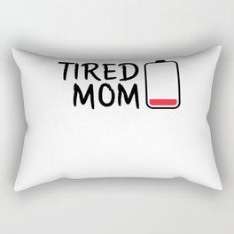 TIRED MOM (WHITE) Rectangular Pillow