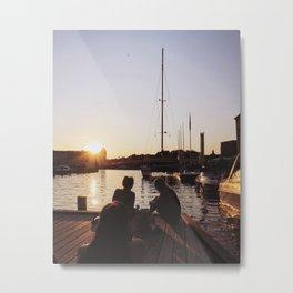 Nyhavn Canal, Copenhagen at Dusk Metal Print