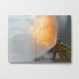 Brace Against the Inferno Metal Print