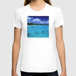 Tahiti Island Waters Over Big, Dramatic Tropical Sky T-shirt
