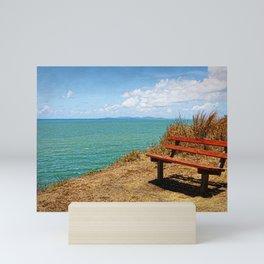 Park Bench On The Headland Mini Art Print