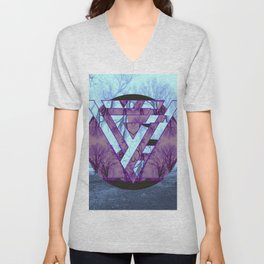 Twisted side Unisex V-Neck