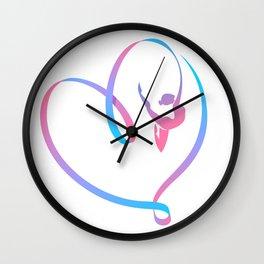 Rhythm of a Gymnast's Heart Wall Clock