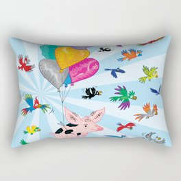 The Pig and The Parrots Rectangular Pillow