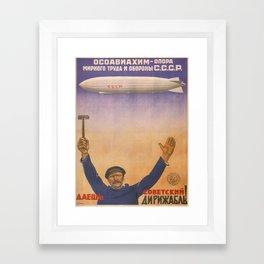 Vintage poster - CCCP Framed Art Print