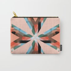 Three Triangles Geometric in Coral Carry-All Pouch