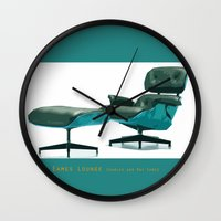 eames Wall Clocks featuring Eames by Retale