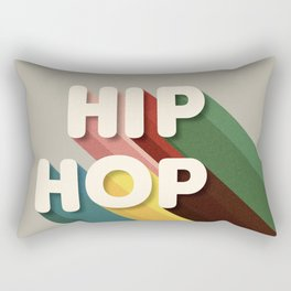 HIP HOP - typography Rectangular Pillow