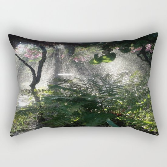 A whisper to the silent earth Rectangular Pillow