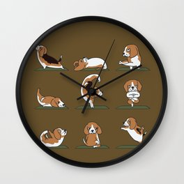 Beagle Yoga Wall Clock