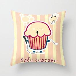 Baby Cupcake - Music Throw Pillow