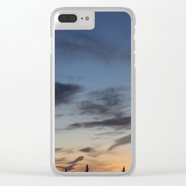 gradient sunset Clear iPhone Case