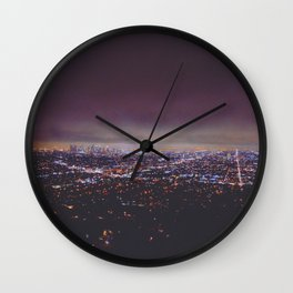 Smokey Skyline Wall Clock