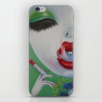 lipstick iPhone & iPod Skins featuring Lipstick by Sahara Novotny