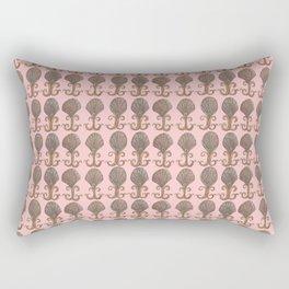Art Deco Avalon Shell Pattern Pink Rectangular Pillow