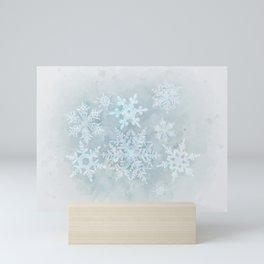 Snow is coming Mini Art Print