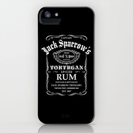 Captain Jack Sparrow Tortugan Spiced Rum iPhone Case