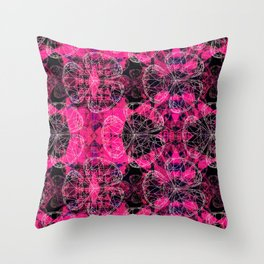 Diamonds Pink Throw Pillow