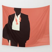 bond Wall Tapestries featuring Minimalist Bond: Casino Royale by Tyler Bramer