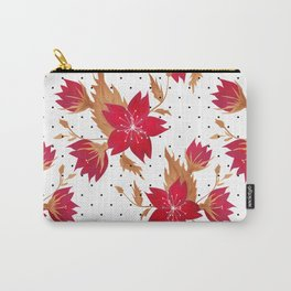 Floral seamless pattern with red flowers texture Carry-All Pouch