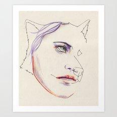 Boudeuse Art Print