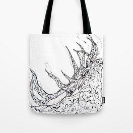 Elk  Dripped Abstract Pollock Style Tote Bag