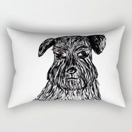 Beard Boy Pets Rectangular Pillow