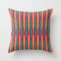 knitting Throw Pillows featuring Knitting Flames by VessDSign