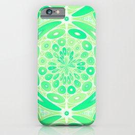 Kiwi green geometric iPhone Case