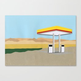 Death Valley Gas Station Canvas Print