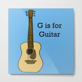 G is for Guitar Metal Print