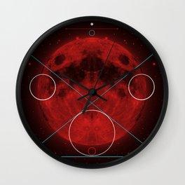 Red Moon Graphish. Wall Clock