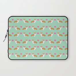 Corgi love hearts welsh corgis dog breed gifts essential dog lover must haves Laptop Sleeve
