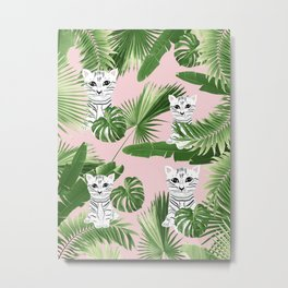 Baby Cat in the Jungle #1 (Kids Collection) #tropical #animal #decor #art #society6 Metal Print