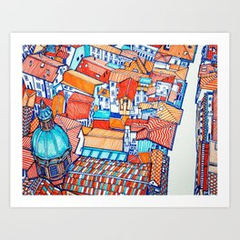 Bologna from above Art Print