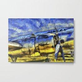 Aviation Vincent Van Gogh Metal Print