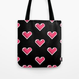 Pixel Hearts Pattern Tote Bag