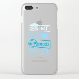 Eat Sleep Soccer Repeat Clear iPhone Case